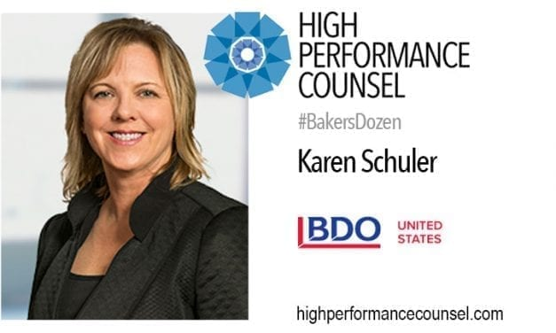On #FearlessLaw: BDO's Karen Schuler Speaks With High Performance Counsel