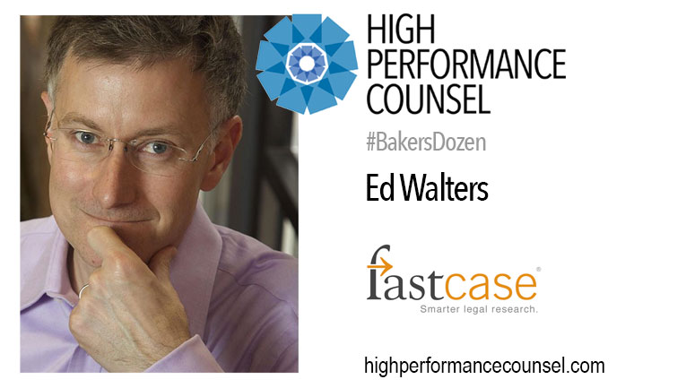 FastCase CEO Ed Walters Discusses Modern #LegalLeadership