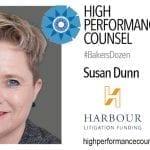Litigation Funding Founder & CEO Susan Dunn Interviewed For #BakersDozen