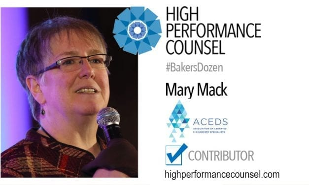 On #BakersDozen: Mary Mack of ACEDS In Interview with High Performance Counsel