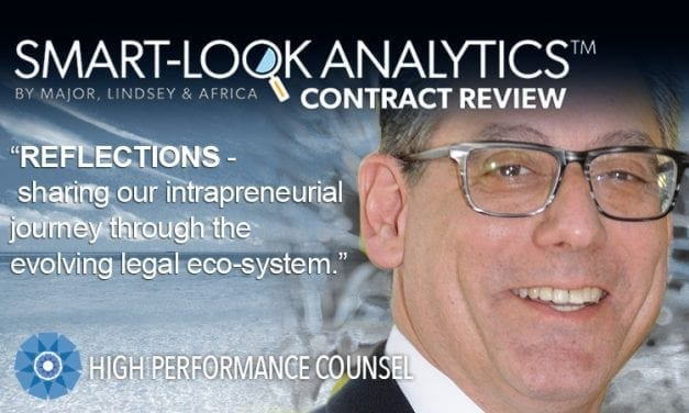 REFLECTIONS –  Sharing Our Intrapreneurial Journey Through The Evolving Legal Eco-System – by Mark Yacano