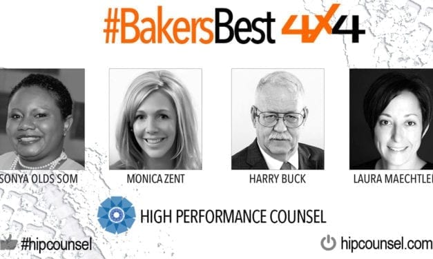 On #BakersBest 4X4 Edition, Issue 5 – Top Legal Industry Leaders Speak: Sonya Olds Som, Monica Zent, Harry Buck & Laura Maechtlen