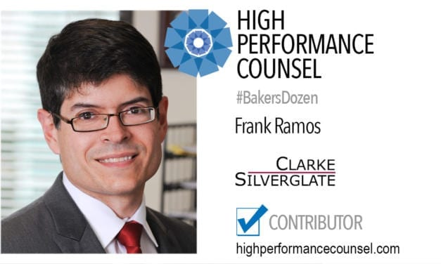 On High Performance Counsel: Speak Less, Say More – A Column by Frank Ramos